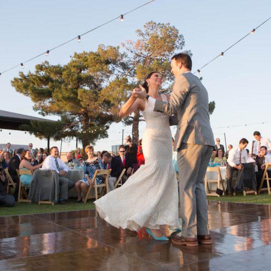 Sedona Sky Weddings Sky Ranch Lodge Bride and Groom Dancing Sedona Arizona
