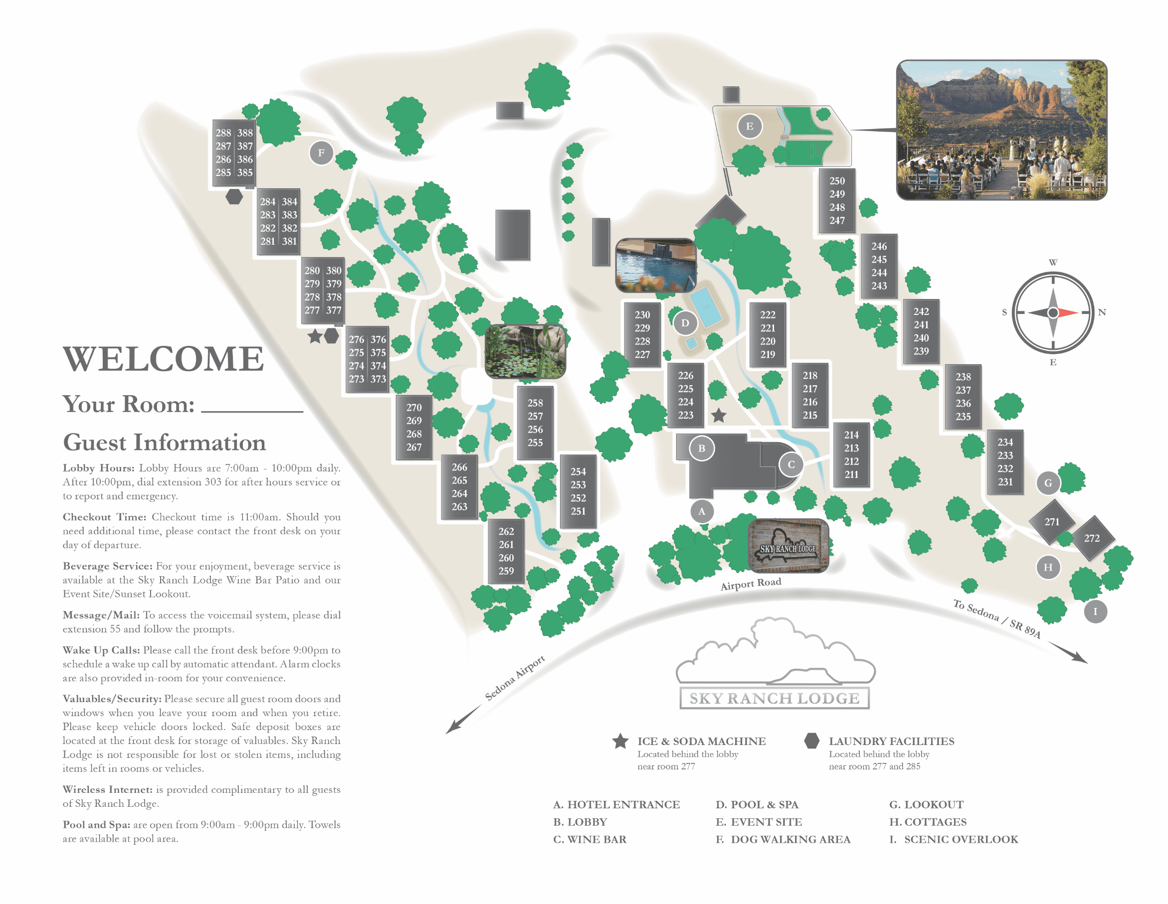Sedona Sky Ranch Lodge Property Map